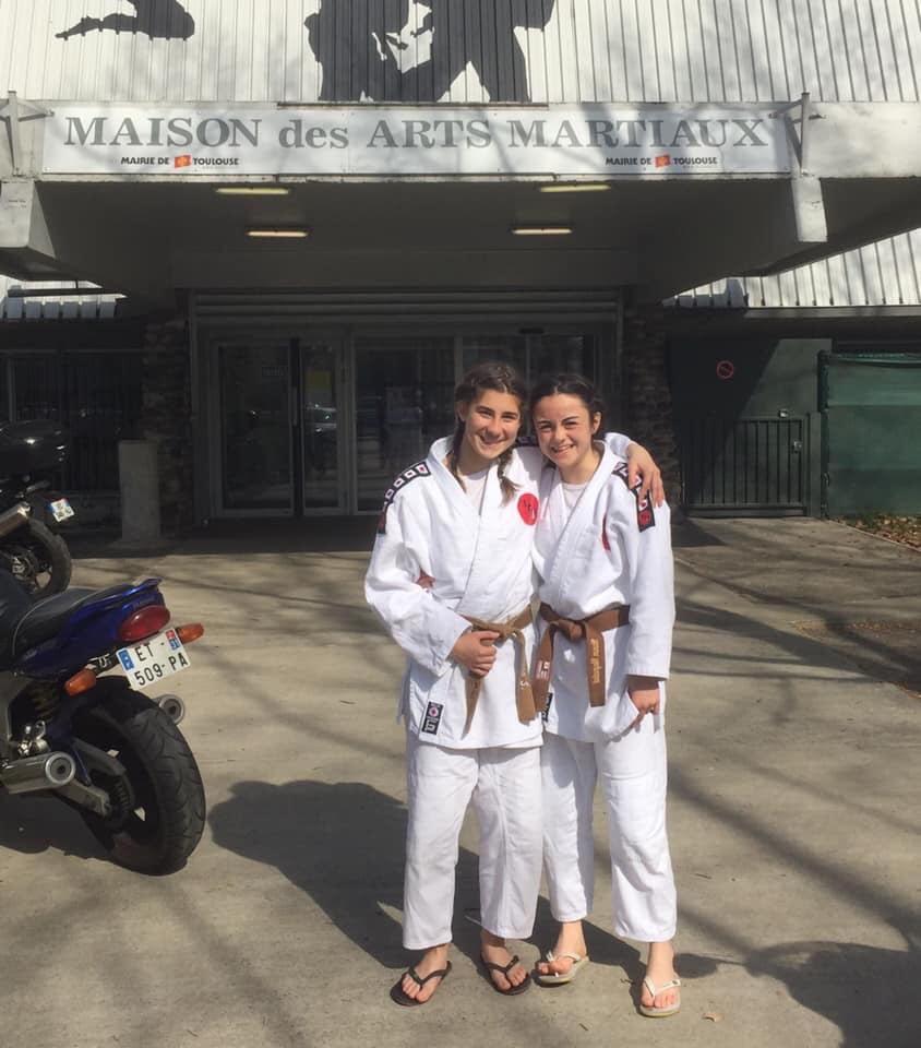 Mélissa & Manon reçues à l'examen Kata pour le 1er Dan